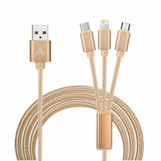 CABLE PULPO  DE CARGA IPHONE - SAMSUNG